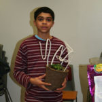 Even middle schoolers have fun making plant topiaries