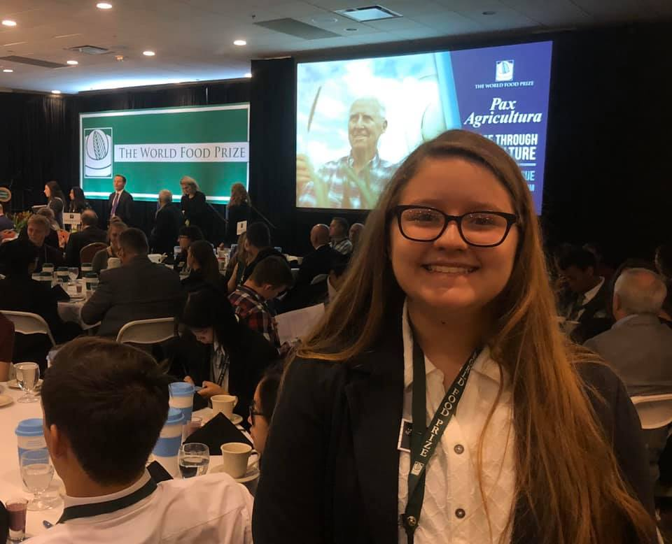 NC 4-H'er attending the Global Youth Institute in Des Moines, Iowa as part of the World Food Prize.