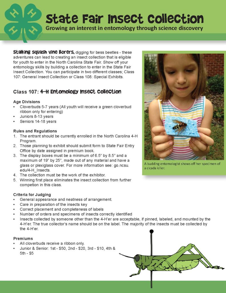 Image of state fair insect collection rules and regulations